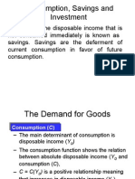 Consumption, Savings and Investment