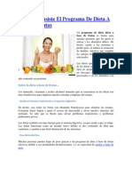 En Que Consiste El Programa de Dieta a Base de Frutas