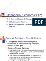 Managerial Economics- Optimization Techniques