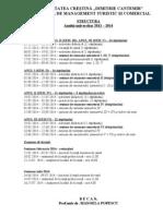 Structura Anului de Invat 2013 2014 Licenta