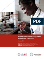Human Resources Management Assessment Approach