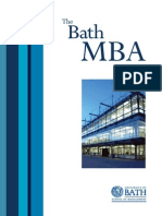 MBA Brochure from Bath Uni 2007