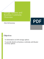 Storage, SAN and Business Continuity Overview