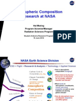 Atmospheric Composition Research at NASA - SARP 2014