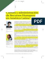 Cultura y Administración de Recursos Humanos en América Latina