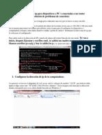 Configuración de Ip Para Dispositivos y Pc