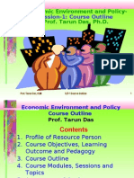 Public Policy Course Outline Prof. Tarun Das