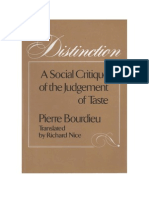 Distinction, P. Bourdieu