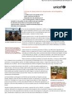 acción urgente para frenar el cólera entre los desplazados de la república democrática del congo