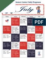 July Activity Calendar 2014