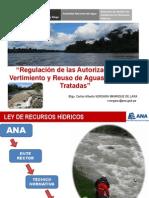 Regulación de las Autorizaciones de Vertimiento y Reuso de Aguas Residuales Tratadas