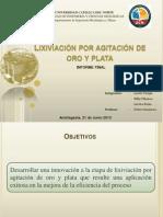 Lixiviación Por Agitación de Oro y Plata (Ppt Fina)