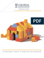 Consumer Guide to Construction Financing