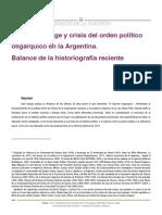 Historiografía Sobre El Orden Oligárquico (Míguez)
