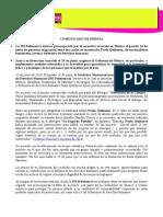 Comunicado IMDEFENSORAS - Defensora Migrantes (300614)