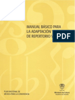 Manual Básico Para La Adaptación y Arreglo de Repertorio Vocal