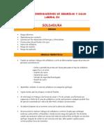 Normas y Recomendaciones de Seguridad y Salud Laboral en Soldadura