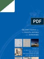 Grandes páginas para una pequeña historia de la Astronomía