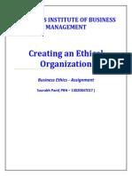 Creating Ethical Organization