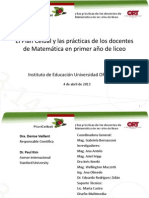 Plan Ceibal Practicas de Docentes de Matematica 2013
