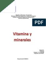Vitamina y Minerales