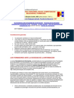 Los Docentes, Funciones, Roles, Competencias Necesarias, Formación