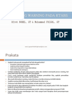 Solving Warning Pada Etabs