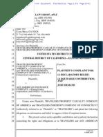 TRAVELERS PROPERTY CASUALTY COMPANY OF AMERICA et al v. ACE AMERICAN INSURANCE COMPANY et al complaint