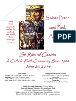 St. Rita Parish Bulletin 6/29/2014