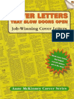 Anne McKinney Cover Letters That Blow Doors Open Job-winning Cover Letters Anne McKinney Career Series Anne Mckinney Career Series 1999