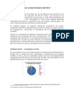 Cómo incrementar la base tributaria del Perú