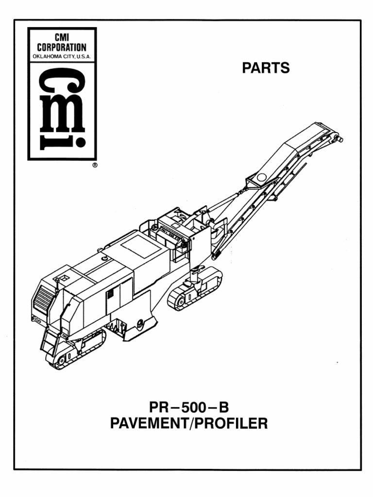 Cmi Pr500b Sn 519151 & Up Parts1