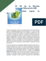 Boletín Nº 93 de La Revista Iberoamericana de Educación