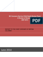 Child Drowning Death Panel Report