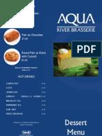 Aqua Brasserie - London Dessert Menu