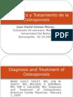 Diagnostico y Tratamiento de La Osteoporosis