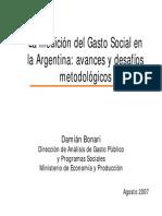Bonari (2007) - La medición del gasto social en Argentina