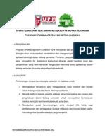 Syarat Dan Terma Pertandingan Rekacipta Inovasi Pertanian 2014