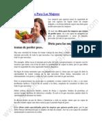 Sobre Las Dietas Para Las Mujeres