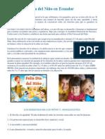 Día Del Niño en Ecuador