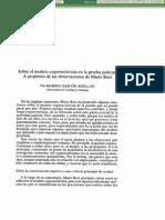 Sobre El Modelo Cognoscitivista en La Prueba Judicial - MARINA GASCÓN ABELLÁN - Anuario de Filosofia Del Derecho - Núm. XIX - Janeiro 2002