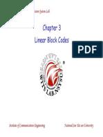 CC 03 LinearBlockCode