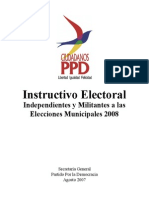 Instructivo Electoral Municpal Ppd 2008