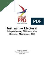 Instructivo Electoral Municpal Ppd 2008