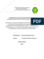 Anteproyecto Tesis Doctoral Wilmer