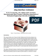 Calculating Interface Resistance