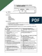 Diagnóstico de Lenguaje y Comunicación 4