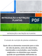 Aula 1 Introdução a Nutrição de Plantas