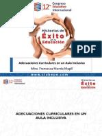 Adecuaciones Curriculares en Un Aula Inclusiva. Francesca Munda