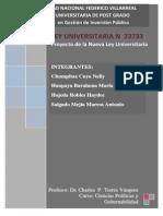 Ley Universitaria - Comentario (1)